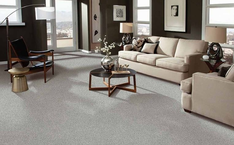 Carpet Flooring Living Room Setup