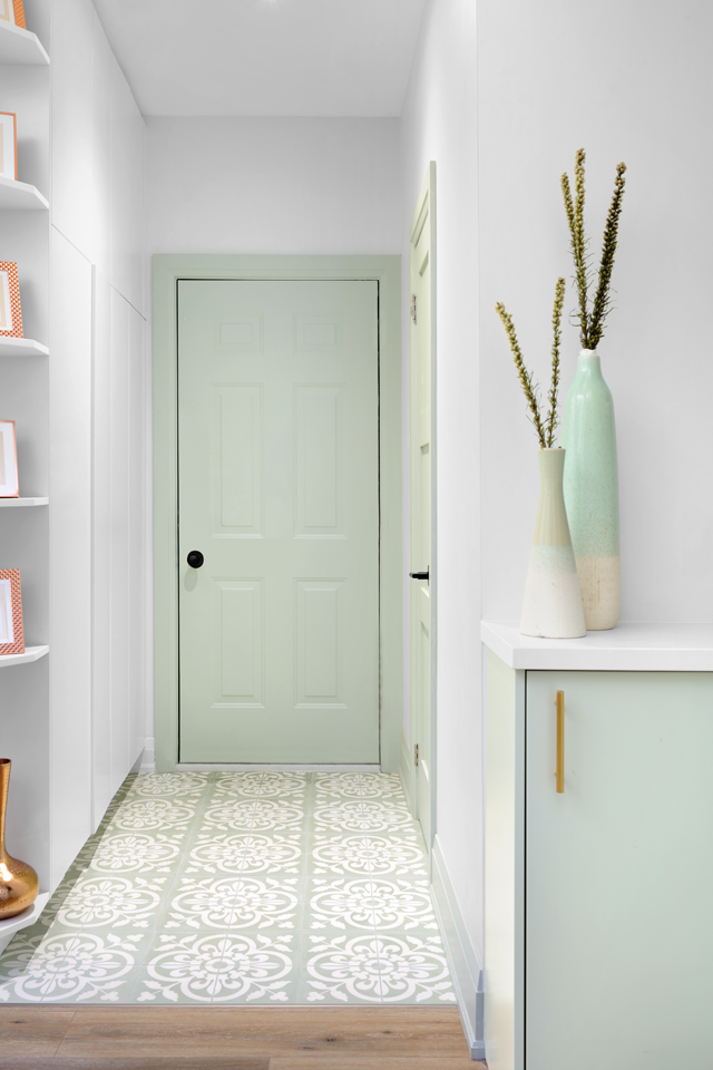 Mint Color Entryway Function-Filled Home Renovation